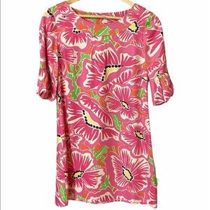 Women's Lilly Pulitzer silk dress floral rare